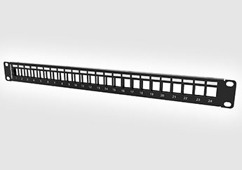 New 1U 24 port modular patch panel
