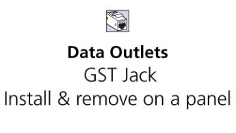GST Flat and Angled Panels - How to install and uninstall GST Jacks on Flat and Angled Panels